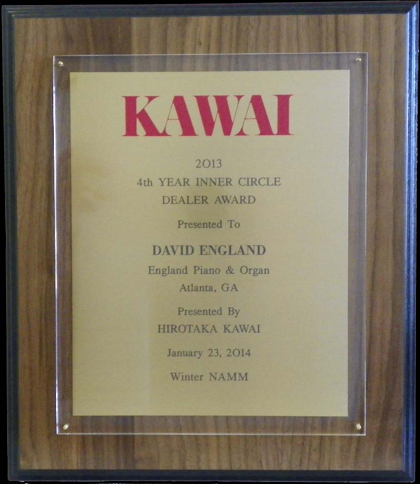 Kawai piano inner circle award england piano 2013
