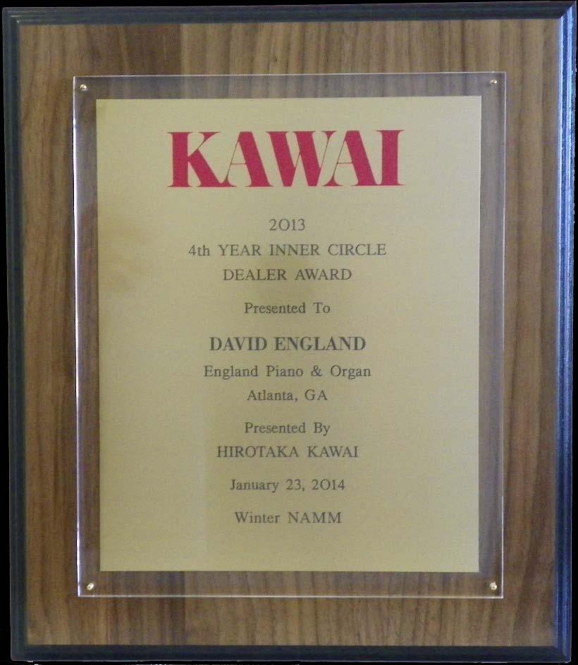 Kawai piano inner circle award england piano 2013