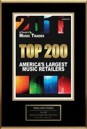 Music Trades Award Largest Music Retailers 2011 | England Piano