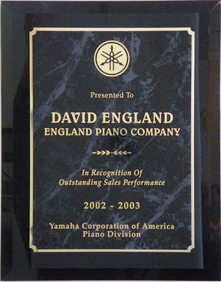 Yamaha Piano Award England Piano 2002-2003 | England Piano