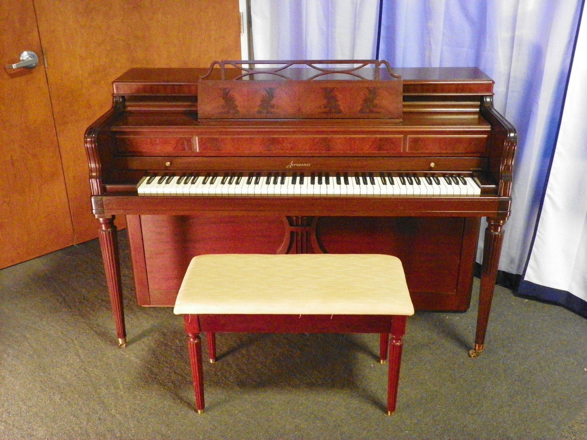 Acrosonic piano england piano for Piano upright dimensions
