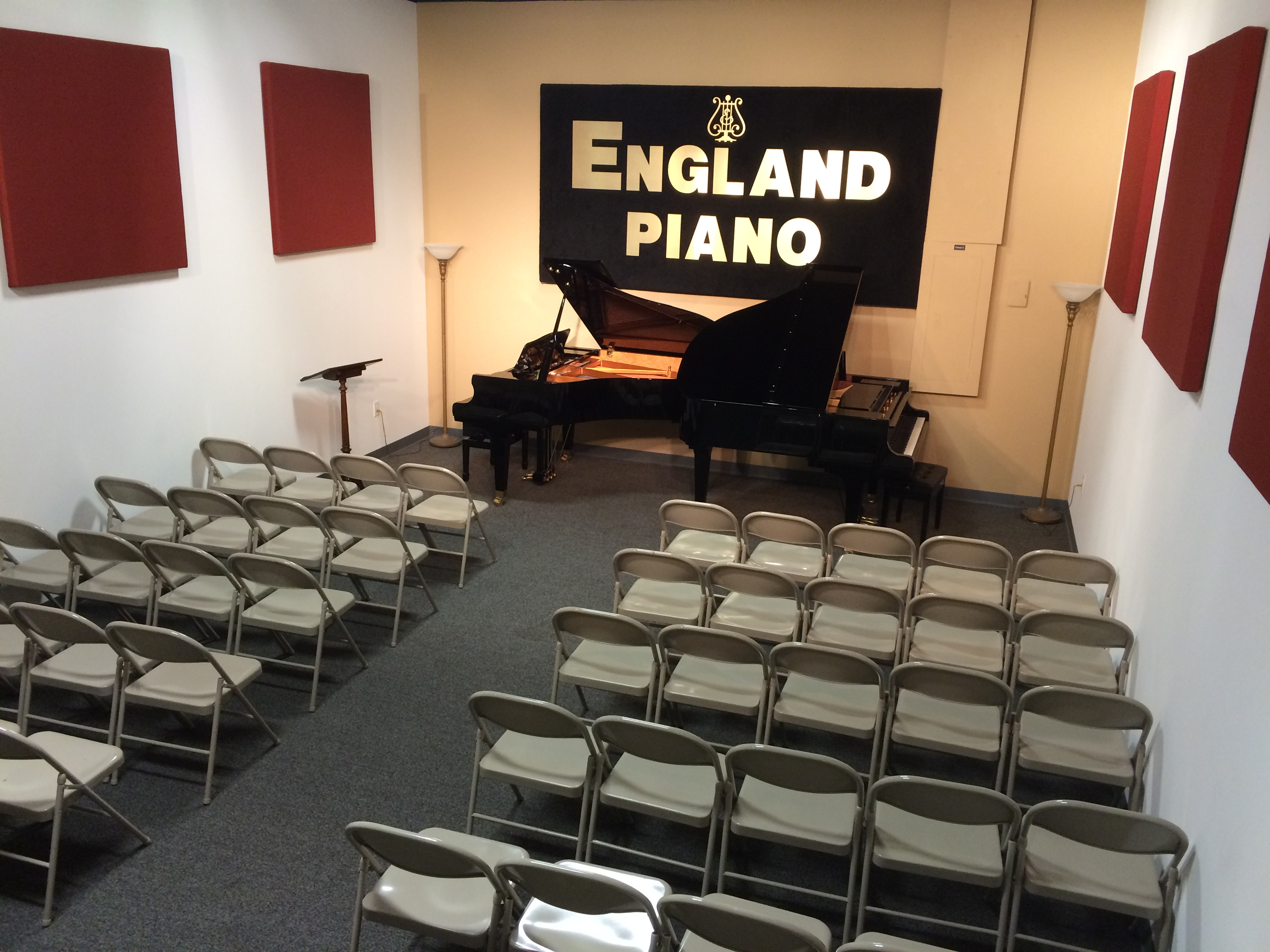 Performance Hall Rental | England Piano