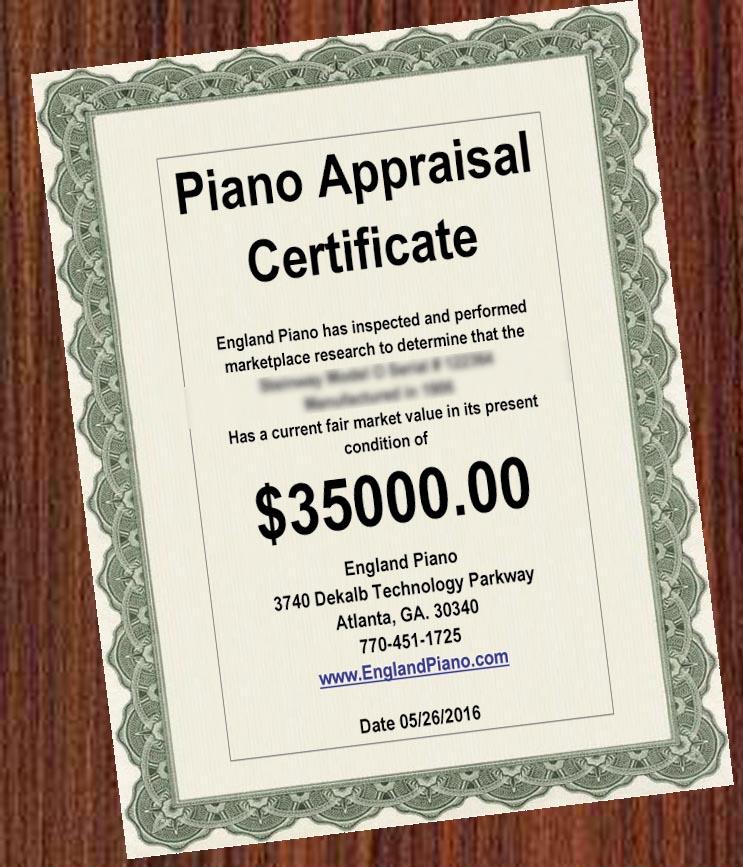 Piano Appraisal England Piano